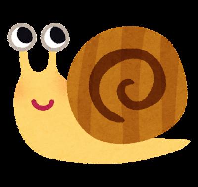カタツムリのキャラクター
