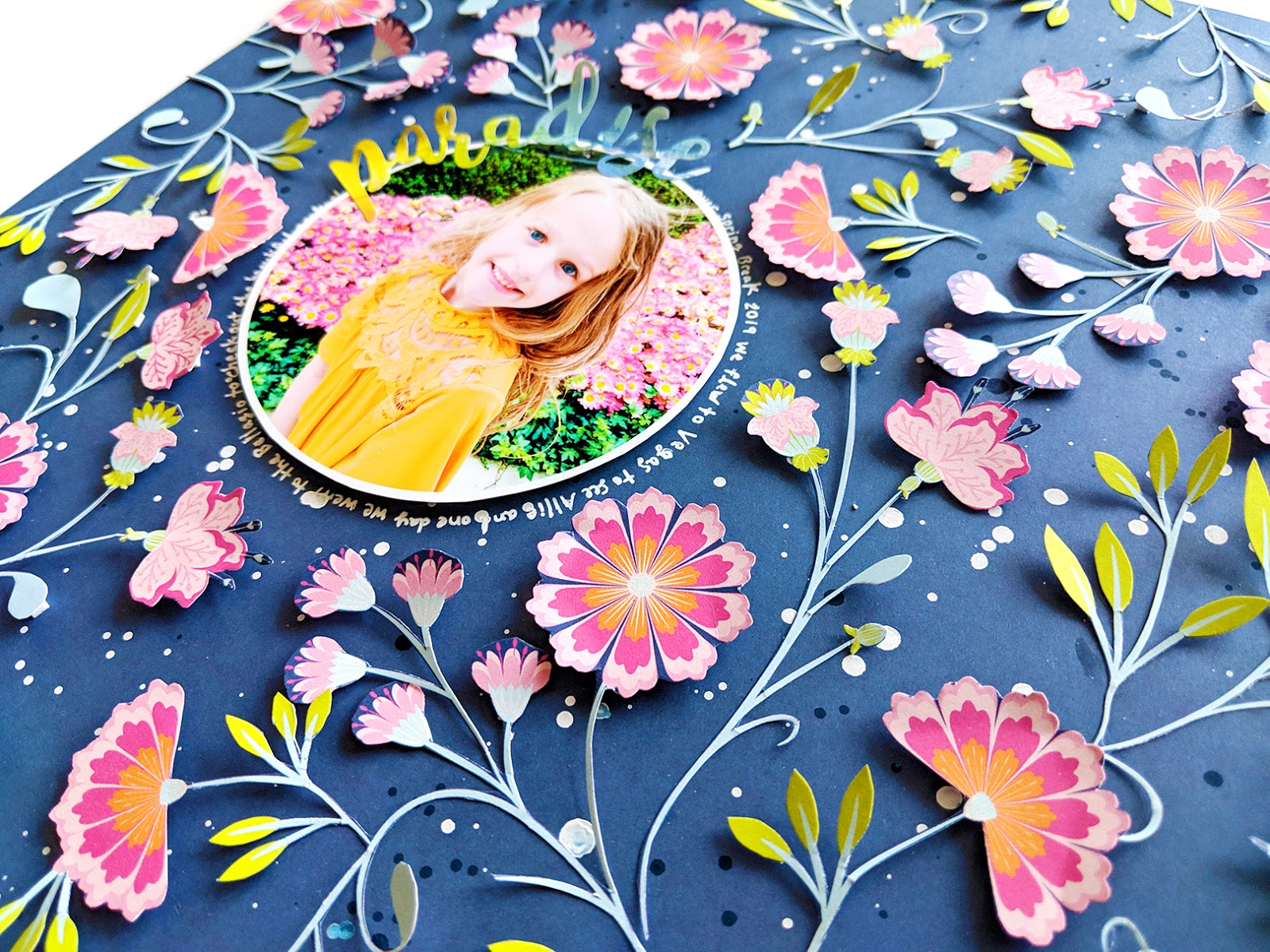 Paradise Fussy Cut Floral Background Layout Paige Taylor Evans