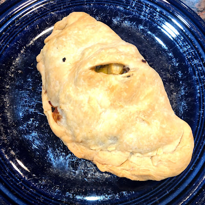 baked pasty on a plate