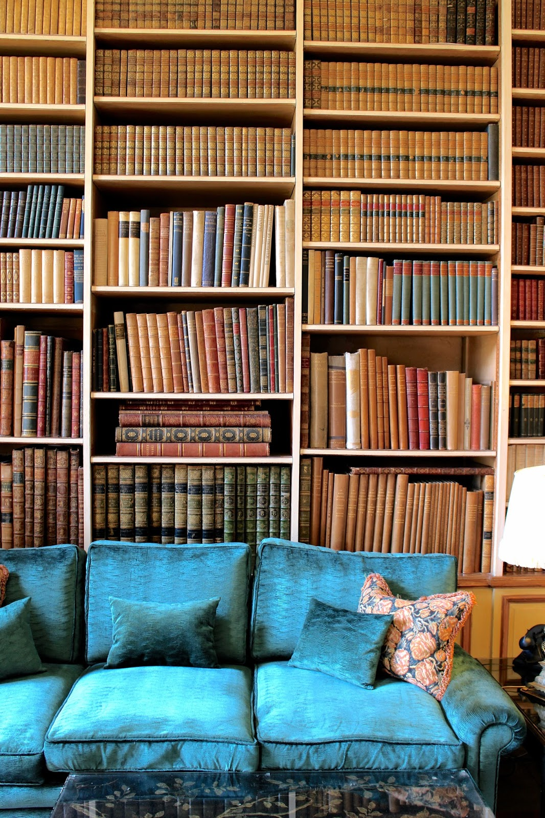 Extensive book collection at Leeds Castle