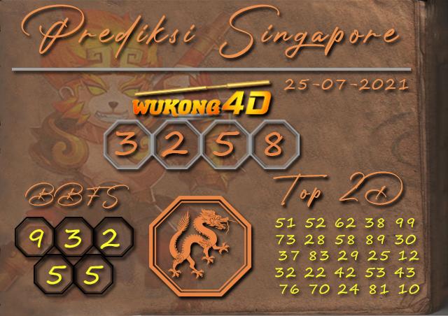 PREDIKSI TOGEL SINGAPORE WUKONG4D 25 JULI 2021