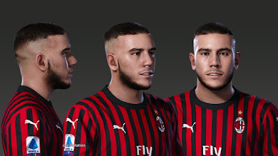 PES 2020 Faces Theo Hernández by Prince Hamiz