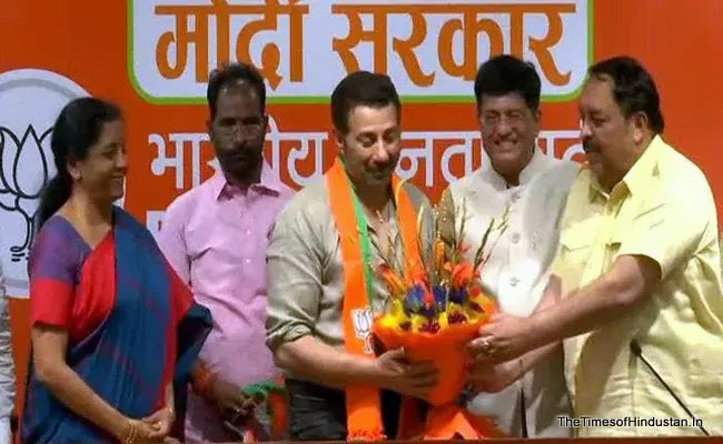 thetimesofhindustan Lok Sabha elections 2019: Actor Sunny Deol joined the BJP today