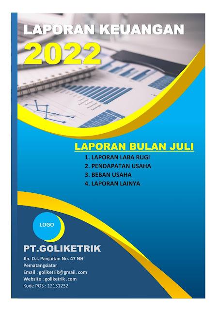 Download Cover Laporan Word Siap Edit Cocok Untuk Laporan Keuangan Dan Laporan Kegiatan Goliketrik