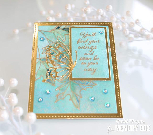 Memory Box ~ BRUSH MERRY CHRISTMAS ~   Die ~ NEW