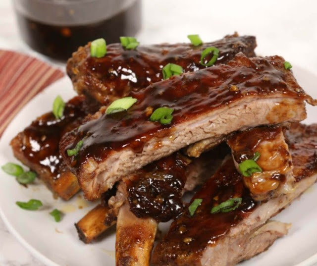 Simple Sticky Korean Ribs Slow Cooker