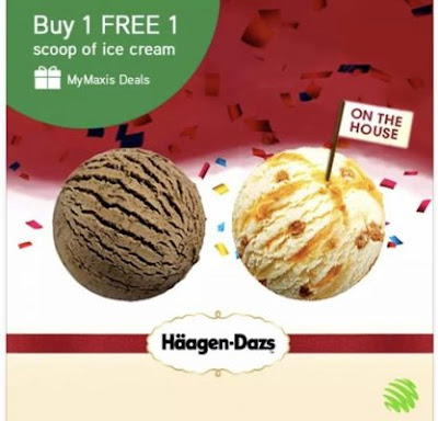 My Maxis Deals Haagen Dazs Ice Cream Buy 1 Free 1 Promo