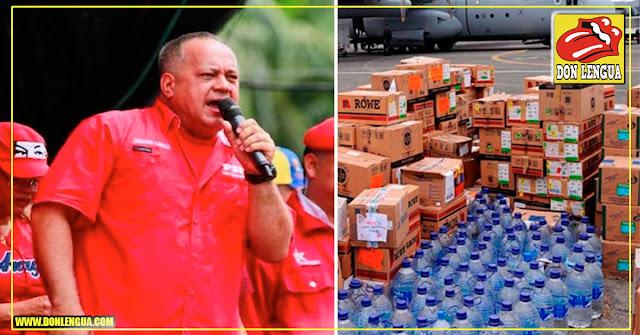 Diosdado Cabello amenaza con derribar aviones que vengan con Ayuda Humanitaria