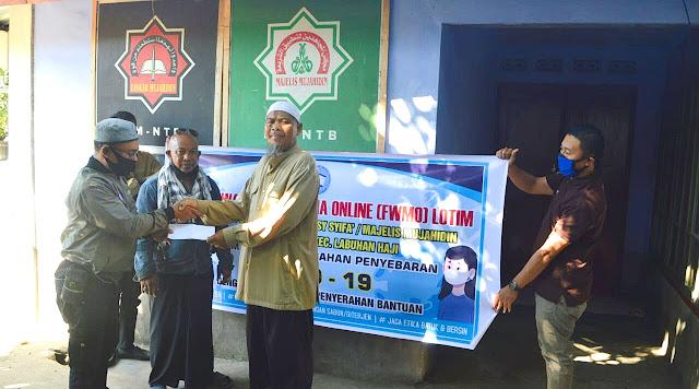 FWMO Lombok Timur Berikan Bantuan ke Majelis Mujahidin