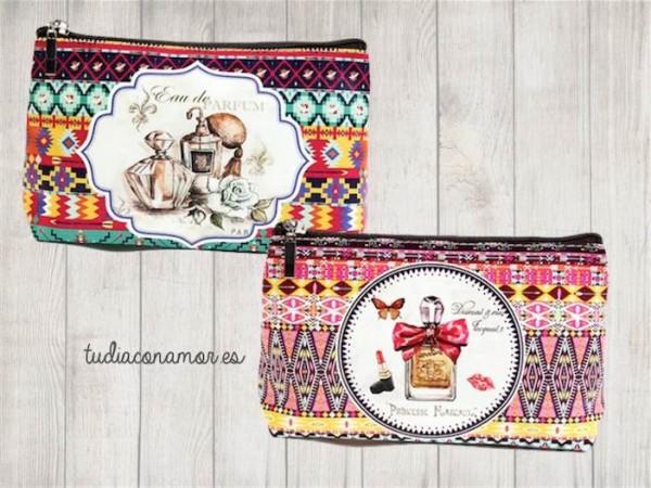 Si buscáis un detalle moderno y útil para mujer, estas bolsas de aseo de estilo étnico chic son perfectas como recuerdo para vuestras invitadas