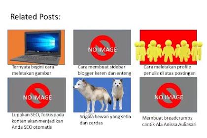 Cara mengatasi gambar thumbnail blank pada related posts