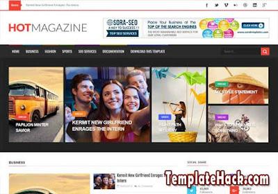 hot magazine blogger template