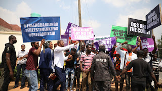 DSS Fires In The Air To Disperse Protesters In Abuja