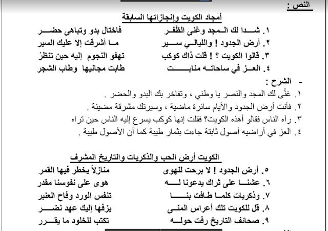 مذكرة المختصر المفيد لغة عربية الموضوع الخامس لغتنا والتقدم العلمي للصف العاشر