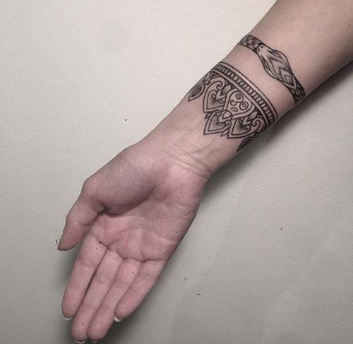 armband tattoo indian hindistan kol bandı dövmesi