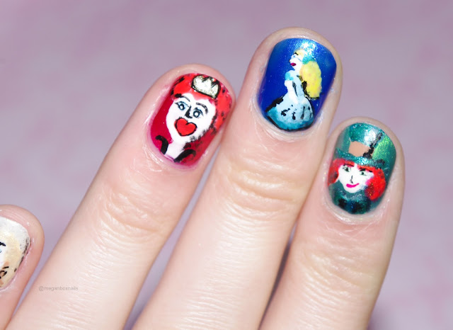 alice in wonderland nails image