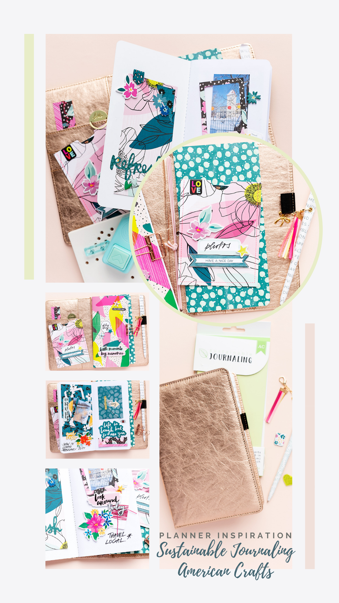 Create a #planner spread with American Crafts Sustainable Journaling Amy Tangerine