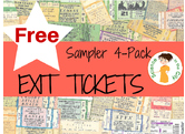 free 4 pack of exit tickets to use in any class as assessment or bell ringer