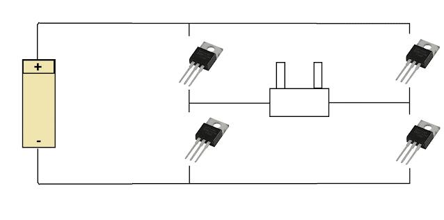 mosfet transistor untuk inverter Rangkaian Inverter Dc to AC