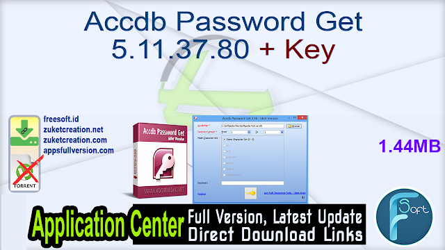 Accdb Password Get 5.11.37.80 + Key