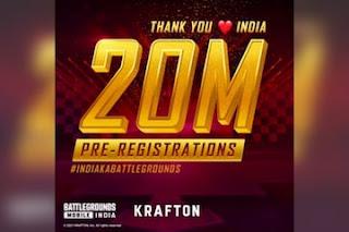Battlegrounds Mobile India Crosses 20 Million Pre-Registrations; Krafton Thanks India For Positive Response