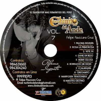CD: PALOMA INGRATA / VOL. 7