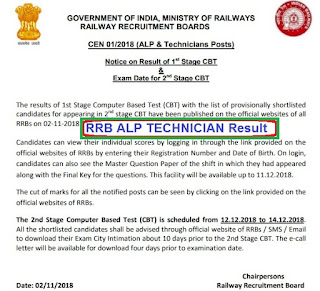 rrb assistant loco pilot result