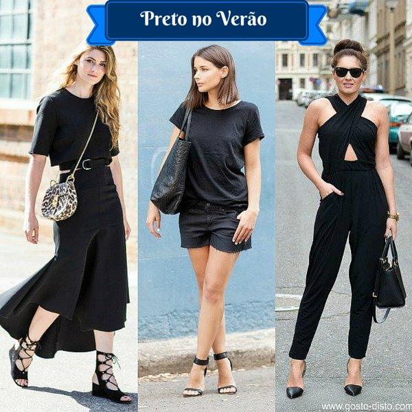 Como usar preto no verão - Look total black