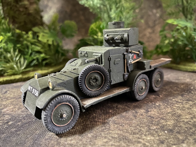 1/56 28mm Copplstone Lanchester MkII 6x4 Armoured Car for Bolt Action