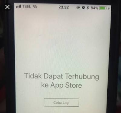 Kenapa iphone tidak bisa terhubung ke app store?
