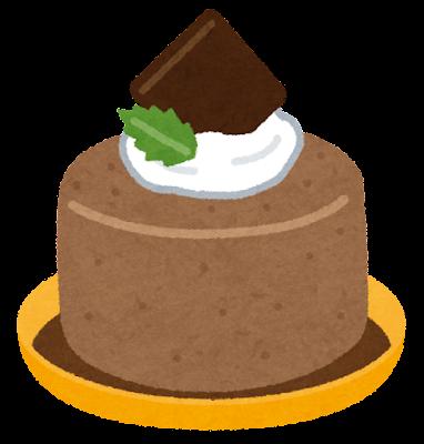 チョコレートムースのイラスト