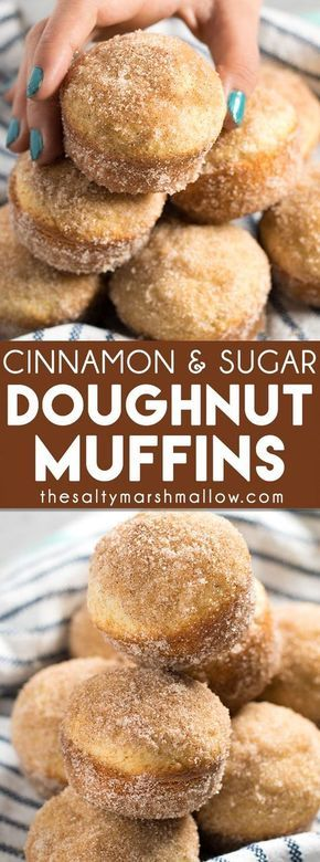 Cinnamon Sugar Donut Muffins - Donut muffins are a super soft, homemade muffins that are easy to make! These buttery treats taste just like an old fashioned donut rolled in cinnamon and sugar!