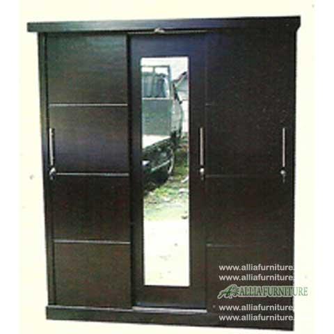 lemari minimalis 3 pintu model asia