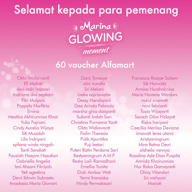 Pemenang Marina Glowing Moment Alfamart