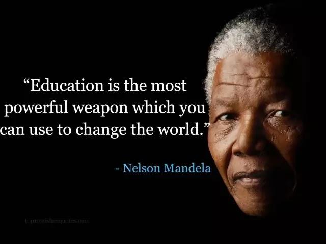 best 10 Nelson Mandela quotes education