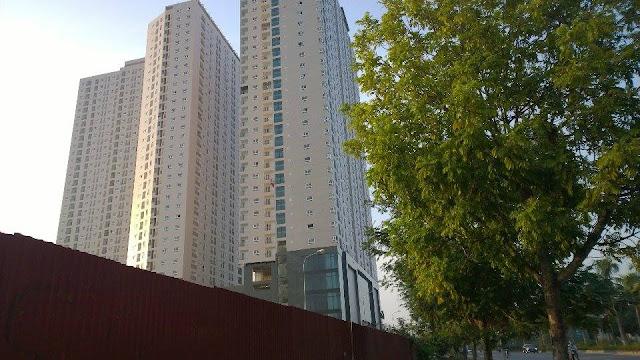 Hình ảnh dự án Gemek Tower nhìn từ phía Thiên Đường Bảo Sơn