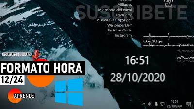 Cambiar Formato de Hora 12/24 en Windows 10