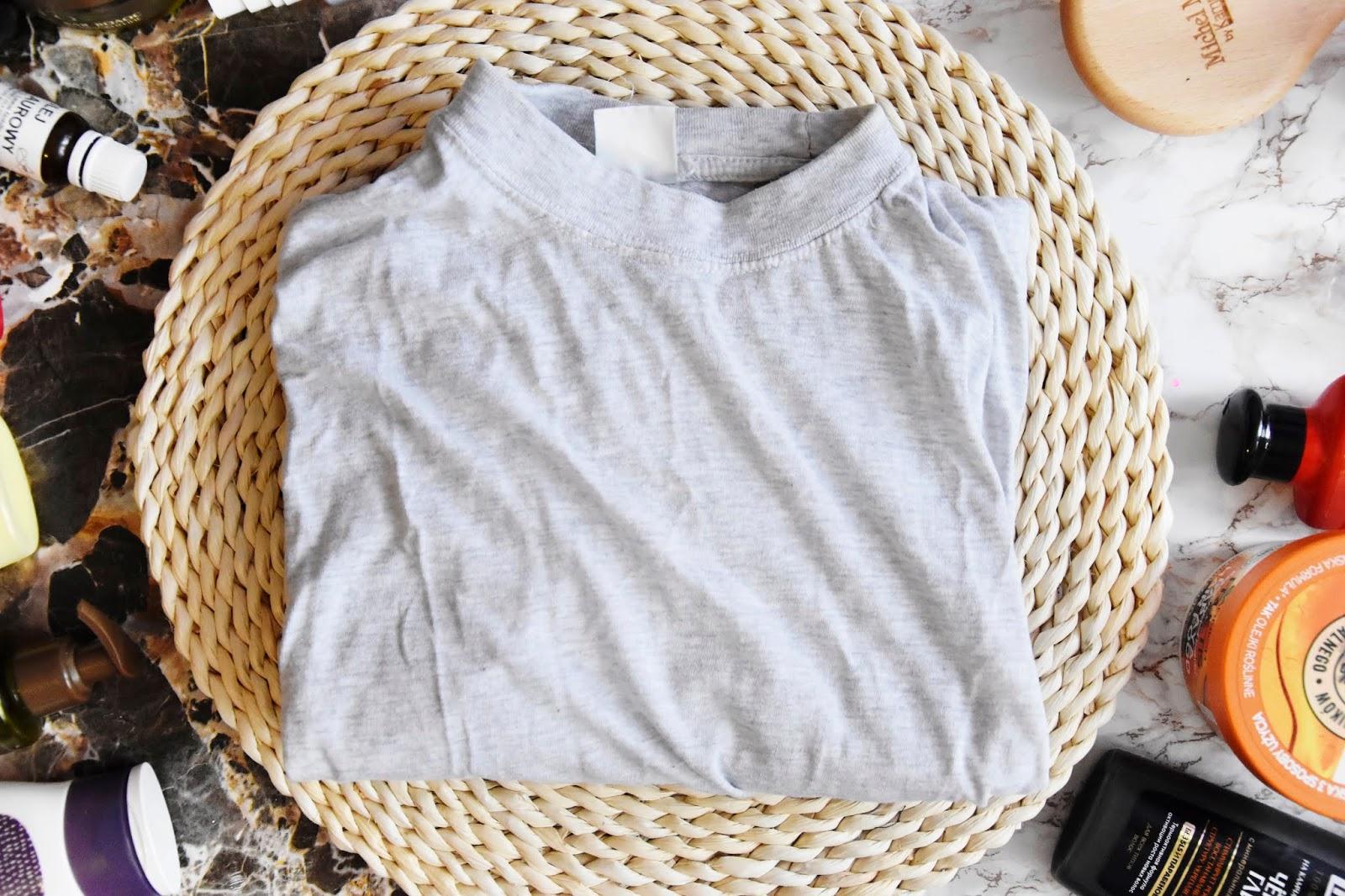 bawelniana koszulka zamiast recznika