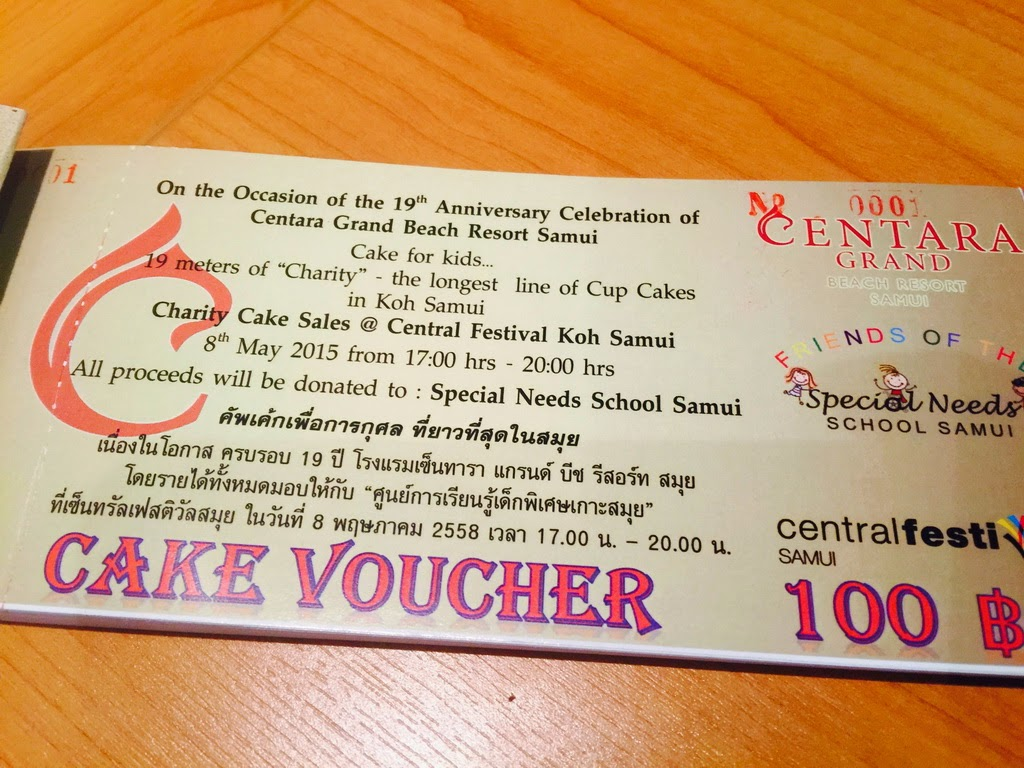 Charity Cake Sales at Central Festival Chaweng 8th May 2015