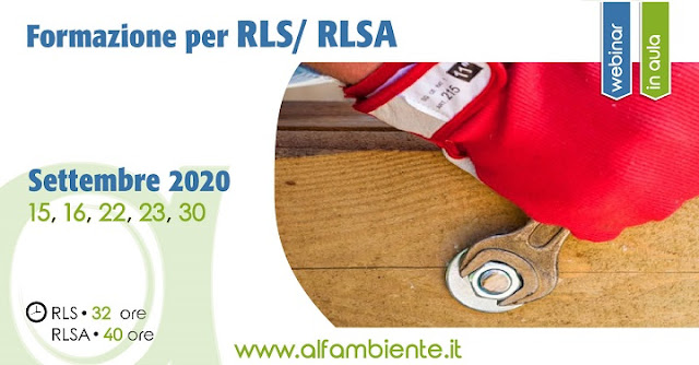 Formazione per RLS/RLSA - Rappresentante dei Lavoratori per la Sicurezza / Ambiente