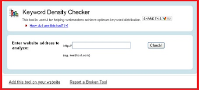Keyword Density Checker Tool