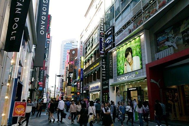 Foto indah dan bersihnya kota Myeongdong Seoul di Korea Selatan
