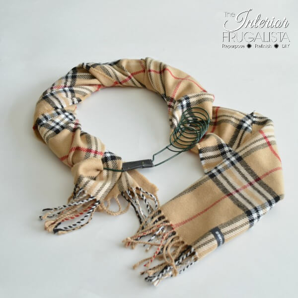 Fake Burberry Fall Wreath Wrapped Scarf