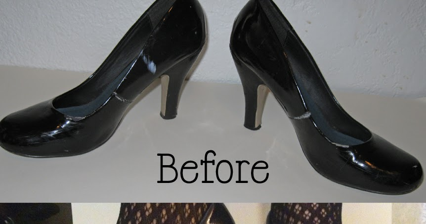 My Thrifty Chic How To Spray Paint Shoes
