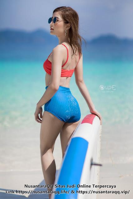 12 Foto Model Cantik Cute Sexy Pattaravadee Boonmeesup di Pantai