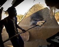 Cooking bread in Chad
