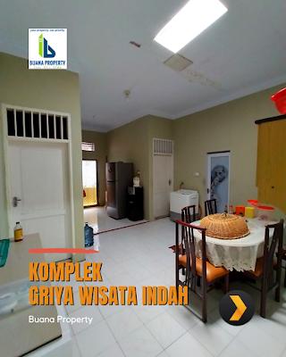 Ruang Makan Rumah Second Cantik Halaman Luas di Komplek Griya Wisata Indah Jl Karya Wisata Ujung Medan Johor