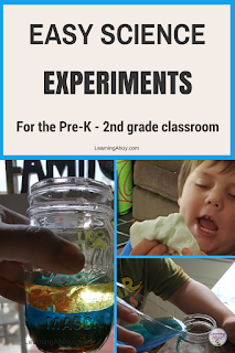 Easy science experiments for the pre-k through 2nd grade classroom