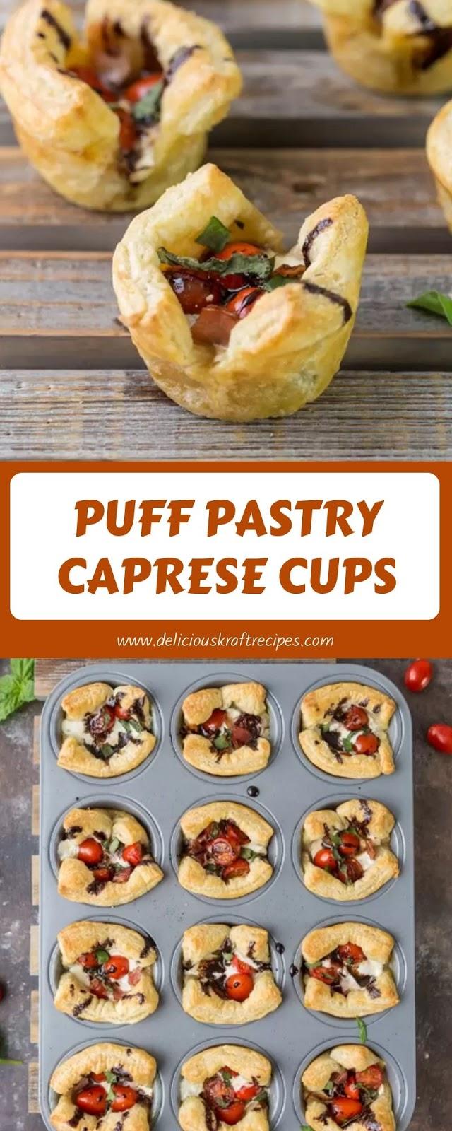 PUFF PASTRY CAPRESE CUPS
