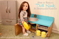 how to build a doll sink and dishwasher